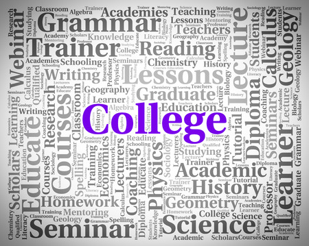 College Word Showing Military Academy And Text