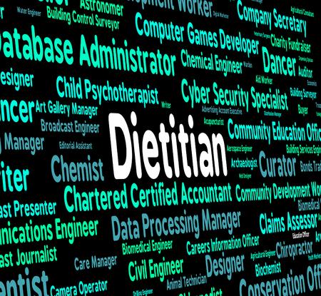 dietitian: Dietitian Job Representing Trainer Career And Tutor