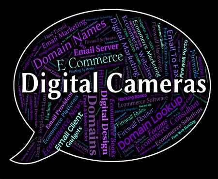 tec: Digital Cameras Indicating High Tec And Video
