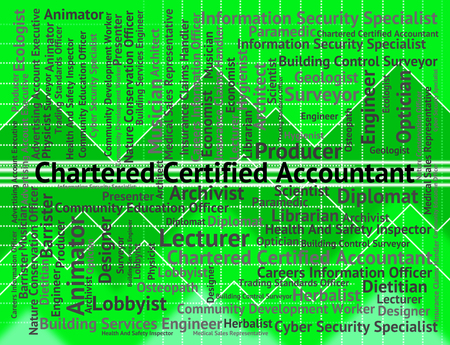 chartered accountant: Chartered Certified Accountant Representing Book Keeper And Accounting Stock Photo