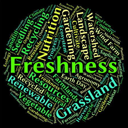freshest: Freshness Word Representing New Unprocessed And Words