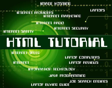 tutorials: Html Tutorial Showing Hypertext Markup Language And Online Tutorials