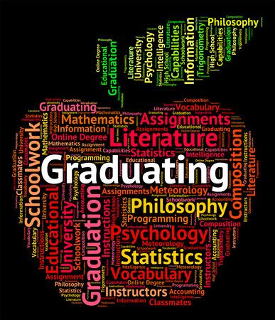 graduado: Graduarse Palabra Significado graduación texto y universidad