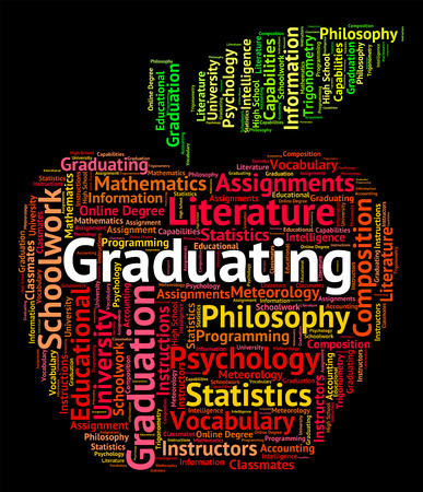 graduating: Graduating Word Meaning Text Graduation And College