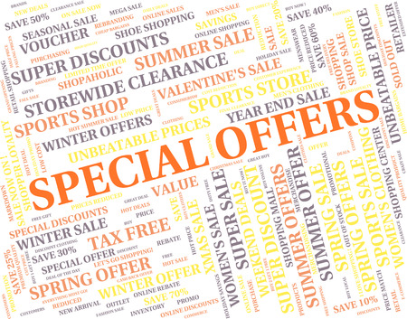 exceptional: Special Offers Meaning Discounts Noteworthy And Save