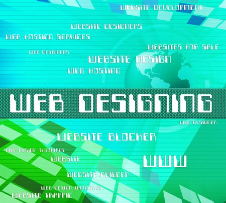 web designing: Web Designing Representing Network Online And Text