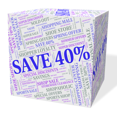 promotional: Forty Percent Off Meaning Sale Promotional And Savings
