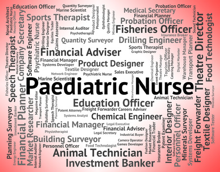 paediatrics: Paediatric Nurse Representing Kid Therapist And Paediatrics