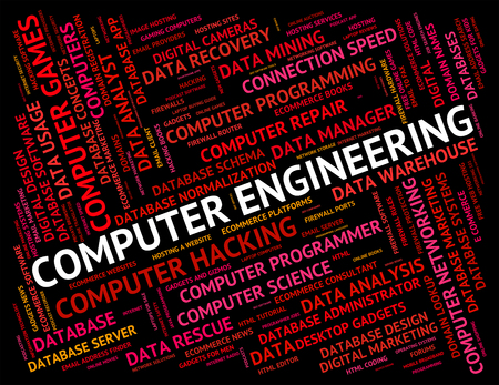 word processors: Computer Engineering Showing Digital Pc And Text
