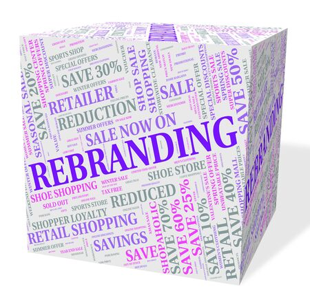 revise: Rebranding Word Representing Company Identity And Line