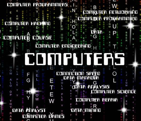 word processor: Computers Word Representing Computing Internet And Words