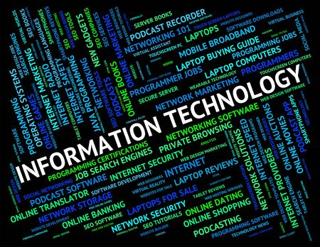 word processor: Information Technology Showing Digital Computing And Pc