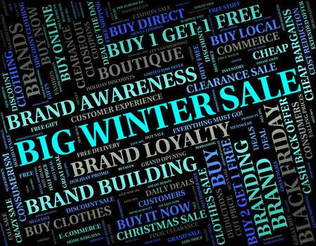 wintertime: Big Winter Sale Meaning Closeout Wintertime And Clearance Stock Photo