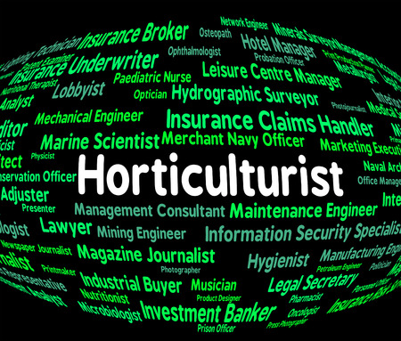horticulturist: Horticulturist Job Showing Cultivation Agricultural And Recruitment Stock Photo