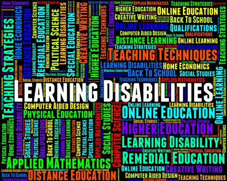 schooling: Learning Disabilities Words Meaning Special Education And Schooling Stock Photo