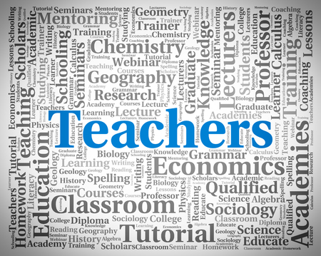 instructing: Teachers Word Showing Give Lessons And Instructing