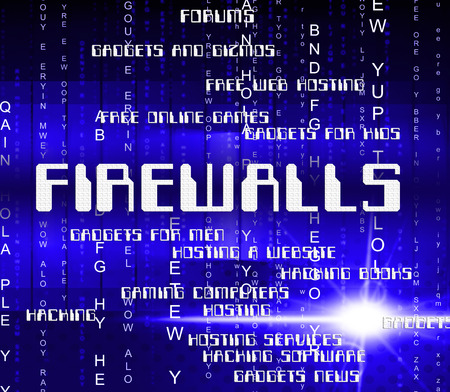 firewalls: Firewalls Word Representing No Access And Security Stock Photo