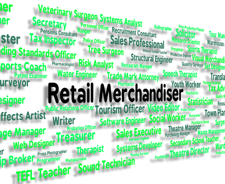 commodities: Retail Merchandiser Showing Marketer Commodities And Merchandising Stock Photo