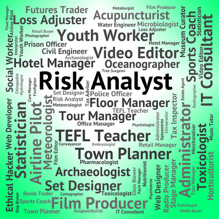 risky job: Risk Analyst Showing Job Insecurity And Risky