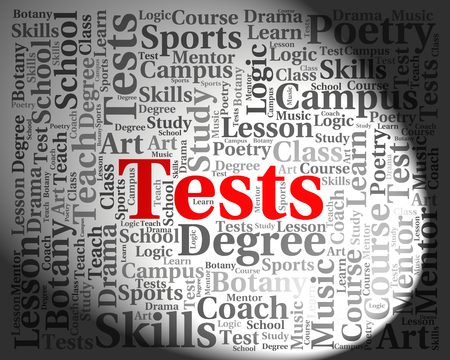test: Tests Word Indicating Testing Words And Examinations