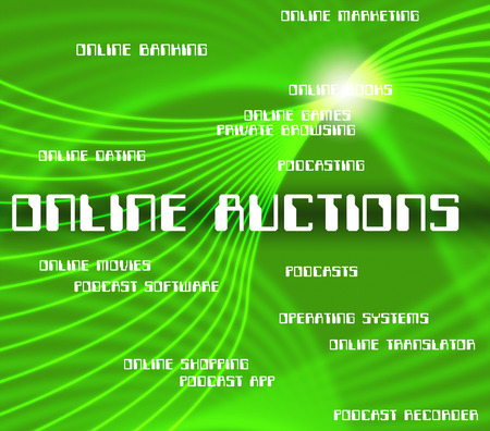 auctions: Online Auctions Meaning World Wide Web And Internet Sale