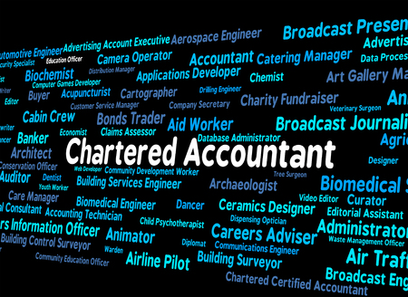 chartered accountant: Chartered Accountant Meaning Balancing The Books And Book Keeper Stock Photo