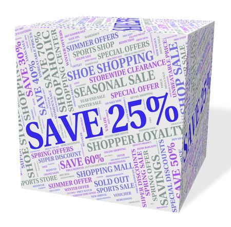 twenty five: Twenty Five Percent Representing Offer Sales And Text Stock Photo