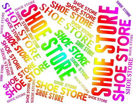 shoe store: Shoe Store Representing Retail Sales And Commercial Stock Photo