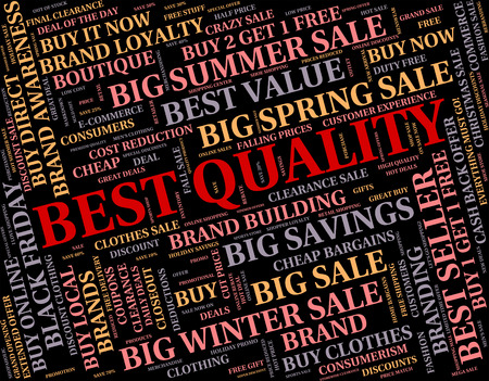 unbeatable: Best Quality Representing Words Incomparable And Text Stock Photo