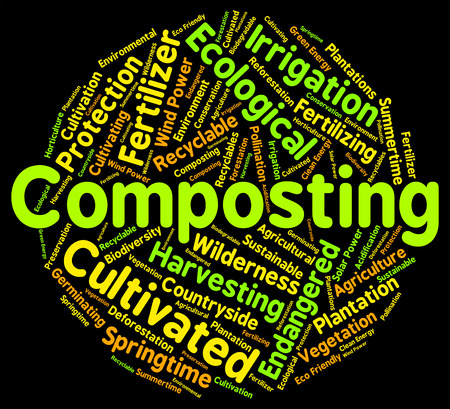 soil: Composting Word Meaning Soil Conditioner And Fertilizer