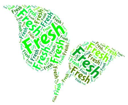 freshest: Fresh Word Representing Raw Words And Freshest Stock Photo