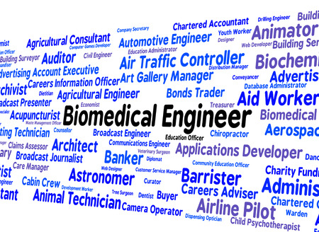 biomedical: Biomedical Engineer Showing Career Occupation And Job Stock Photo