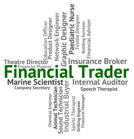 trader: Financial Trader Representing Commerce Profit And Exporter Stock Photo