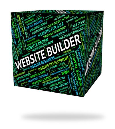 website words: Website Builder Indicating Domains Words And Domain