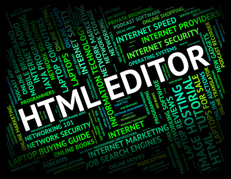 hypertext: Html Editor Representing Hypertext Markup Language And Programming