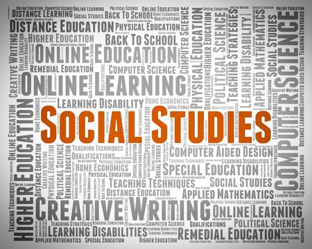 educated: Social Studies Indicating Learn Educated And Words