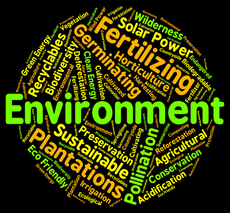 ecosystems: Environment Word Showing Eco Systems And Organism Stock Photo