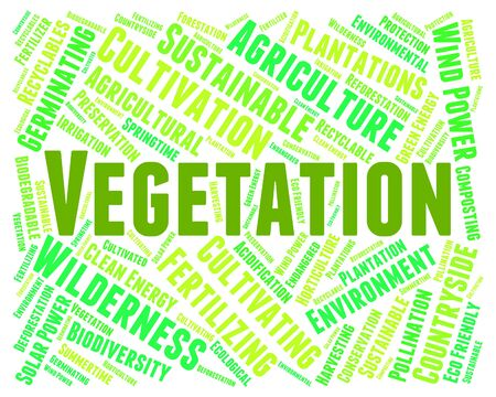 herbage: Vegetation Word Representing Plant Life And Foilage