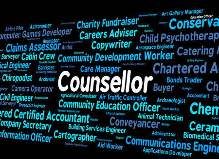 counsellor: Counsellor Job Showing Specialist Expert And Text