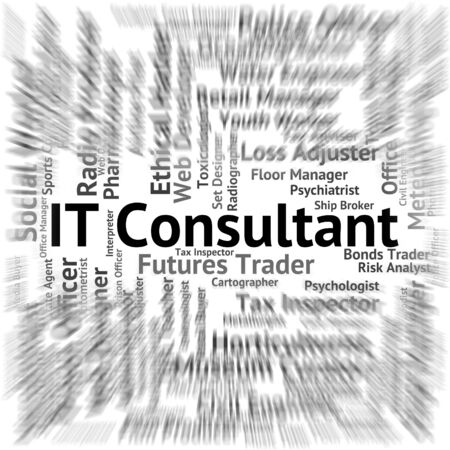 consulting: It Consultant Indicating Consulting Employment And Career