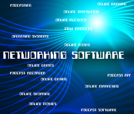 programs: Networking Software Indicating Computer Text And Programs
