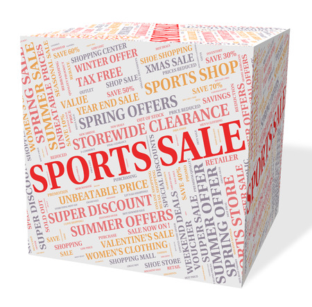 bargains: Sports Sale Indicating Physical Recreation And Bargains