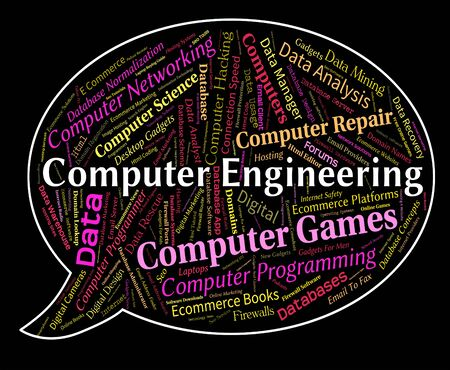 word processor: Computer Engineering Showing Online Word And Mechanics