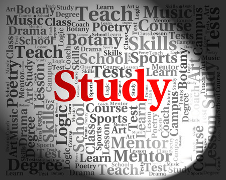 educated: Study Word Indicating Learning Educated And College
