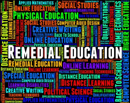 Remedial Education Showing Learning Learned And Tutoring Stock Photo