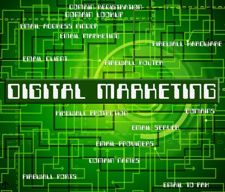 tec: Digital Marketing Indicating High Tec And Technology