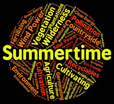 warmth: Summertime Word Meaning Hot Weather And Warmth Stock Photo