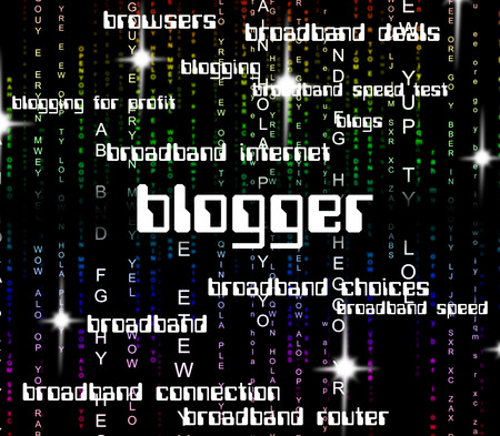 blogger: Blogger Word Showing Words Text And Site Stock Photo