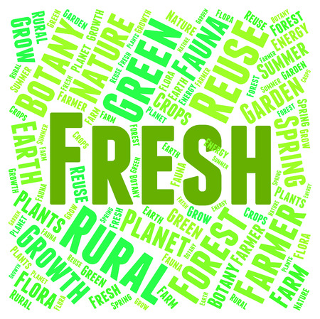 freshest: Fresh Word Showing Text Freshest And Natural Stock Photo