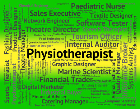 physiotherapist: Physiotherapist Job Representing Occupational Text And Work